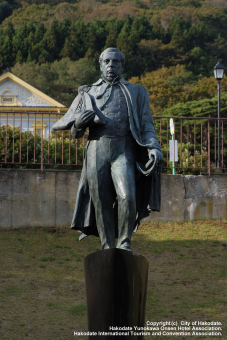 Memorial Statue of Commodore Perry's Visitto Hakodate