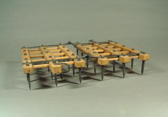 Rectangular harrow (Western-style animal-powered farm tool)
