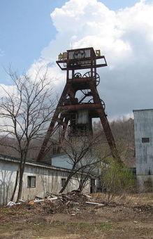 Horonai pit tower of the Hokutan Horonai Coal Mine