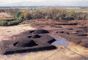 Restored Ebetsu Kofun mounds