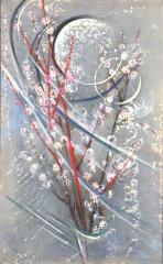 Moon and Peach Blossoms by Keiyu Nishimura