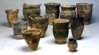 Pottery unearthed at the Ofune Site