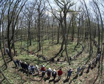 Kiusu Earthwork Burial Circles in Chitose