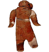 Flat clay figurine unearthed at the Hatsutaushi 20 Site in Nemuro