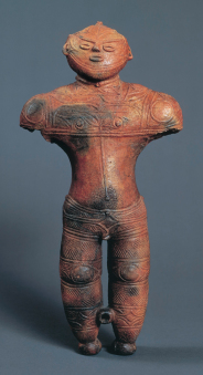 National treasure, the Hollow Clay Figurine (Chuku-Dogu) unearthed at the Chobonaino Site in Hakodate
