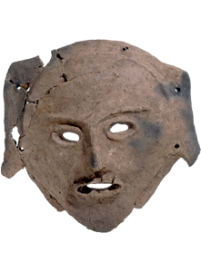 Clay mask unearthed at the Chitose City Mamachi Site