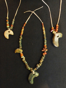 Beads unearthed at the Karinba Site, Eniwa