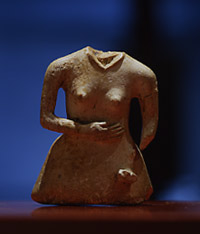 Female figure made of tusk from Moyoro Shell Mound